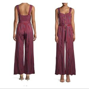 FREE PEOPLE City Girl red blue Striped Jumpsuit 2